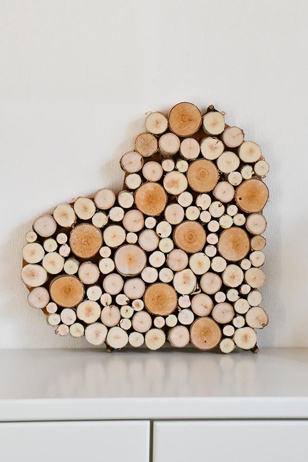 Photo of Deko Herz aus Holzscheiben selbstmachen