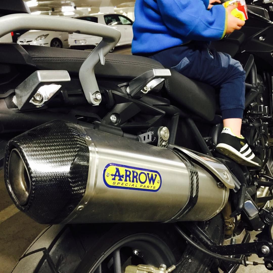 Arrow Pipe  Cool add on to my Triumph Tiger 800 #arrow #can