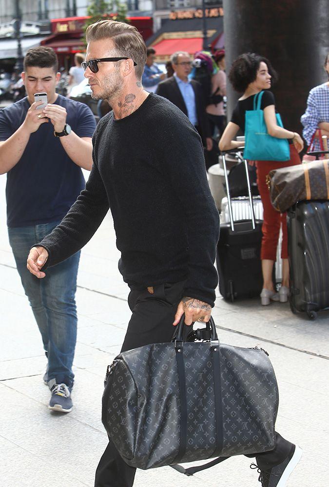 efc86ed8d12a David Beckham Louis Vuitton Keepall Bag
