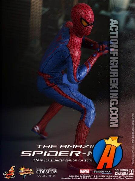 Another shot of this sixth-scale Amazing Spider-Man action figure. #spiderman #hottoys #actionfigures
