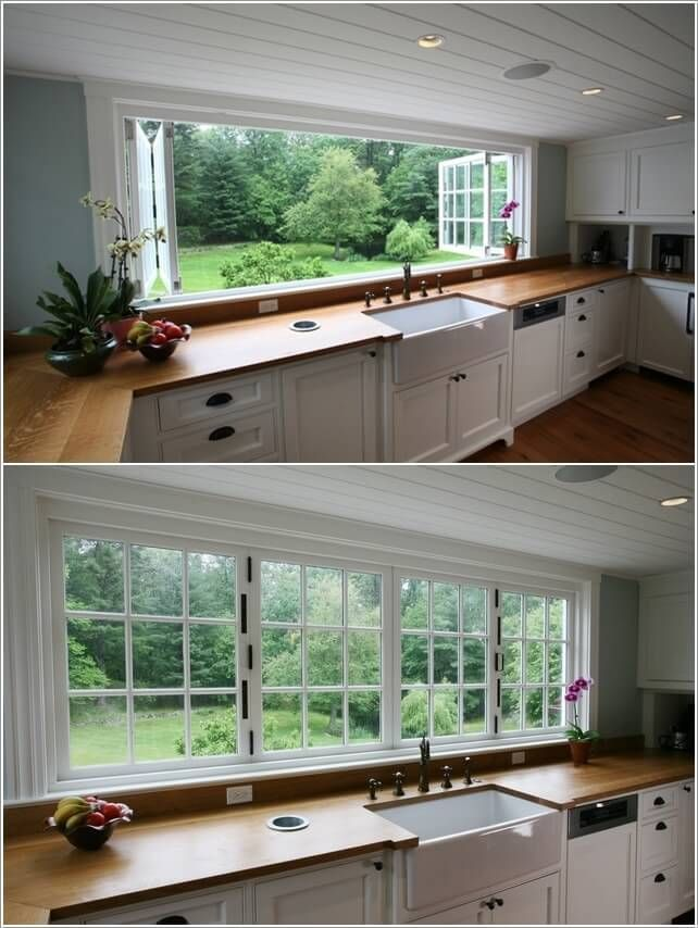 Accordion windows in kitchen for light and fresh air Wannabe my - fresh blueprint awards winners