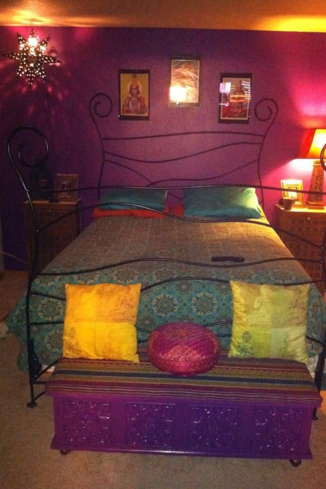 Our bedroom feels more like india now projects i have for Indian themed bedroom