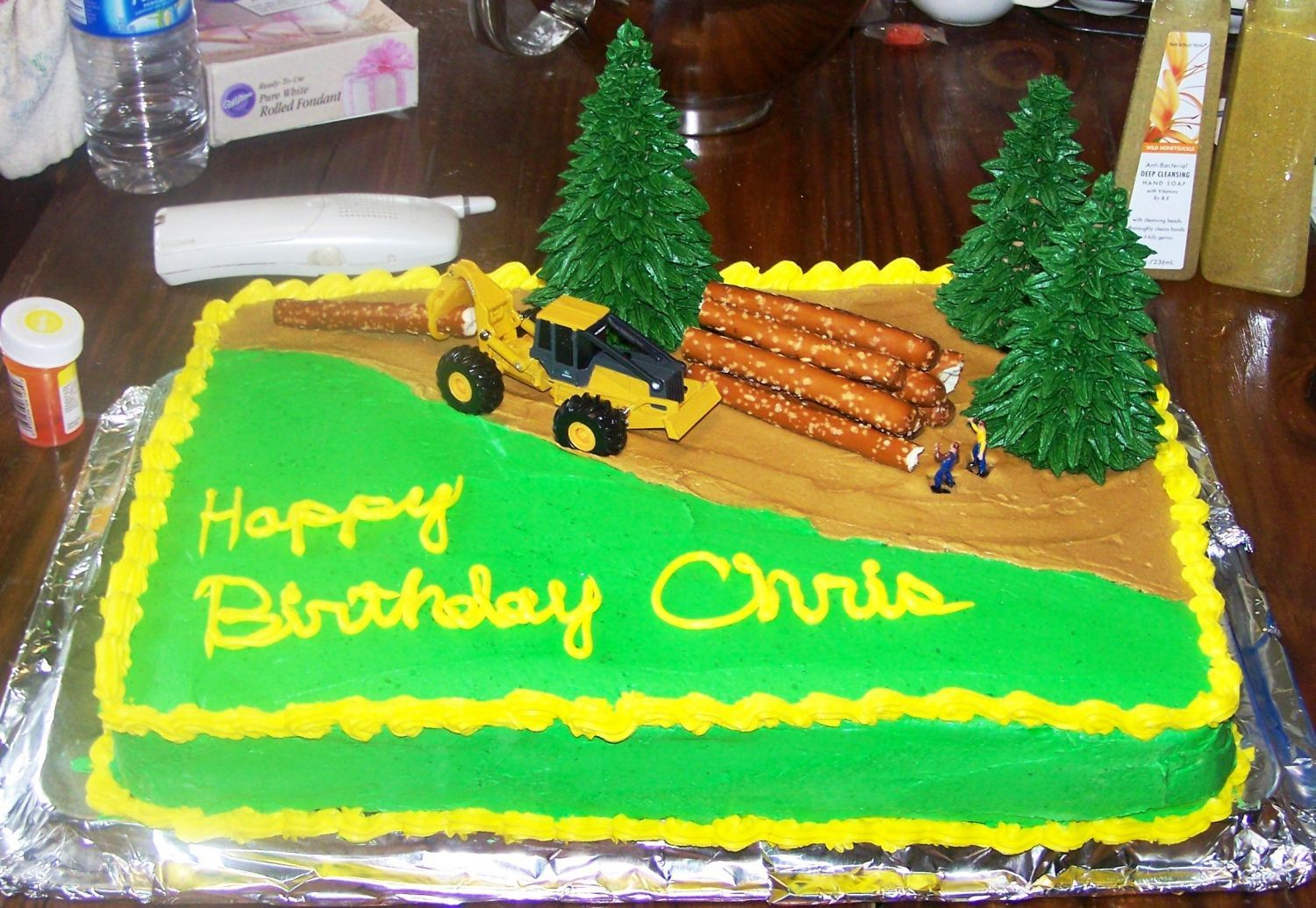 Skidderlogger Cake Mu Husband Is A Logger And I Thought