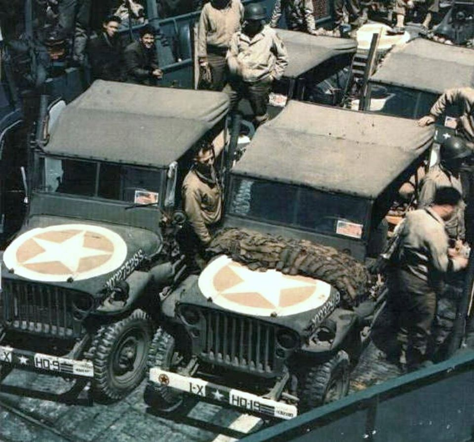 Army jeep parts inc jeeps in lst 1944