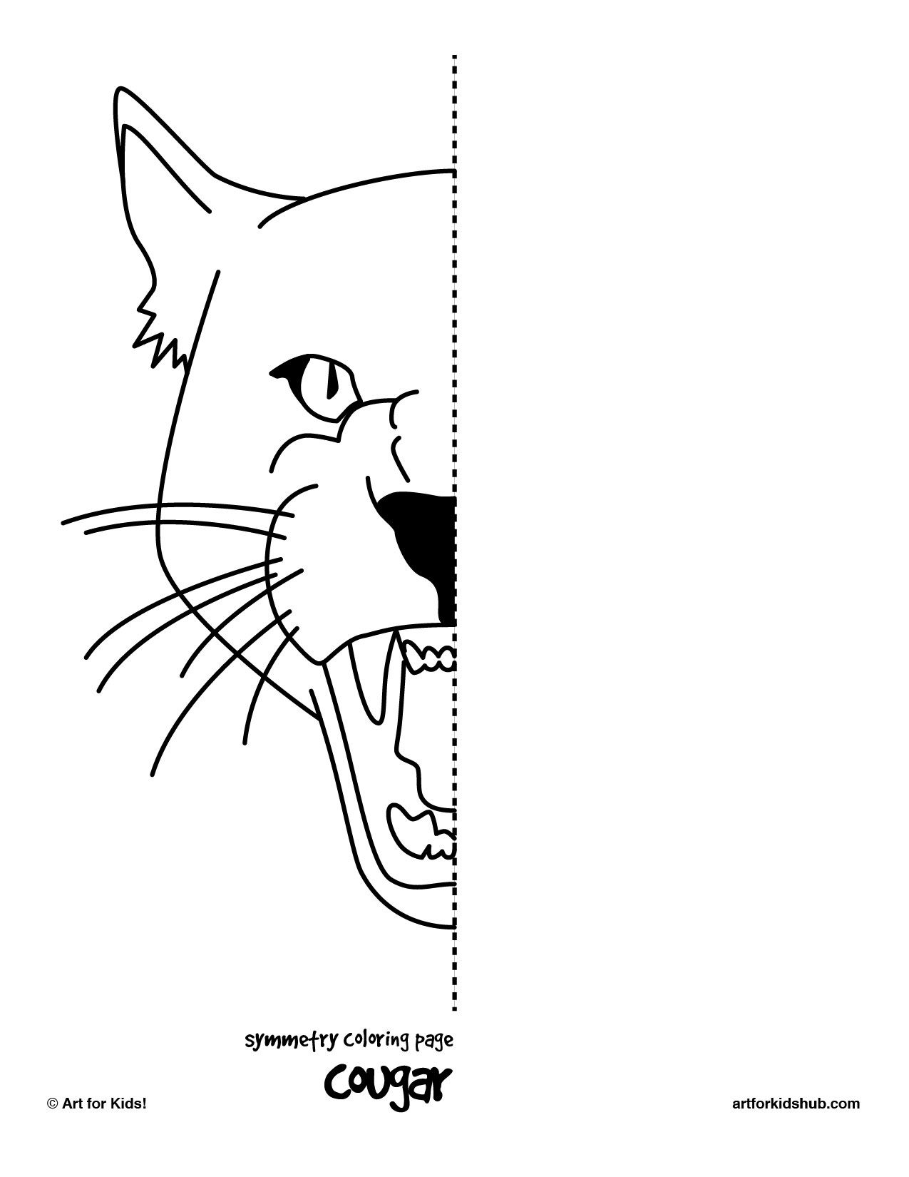 I made 6 free coloring pages to illustrate symmetry…cat