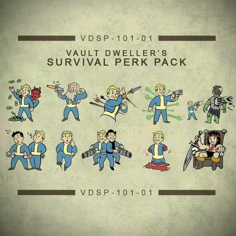 Survival Perk Pack Fallout Wallpaper Fallout Tattoo Vault Boy Fallout
