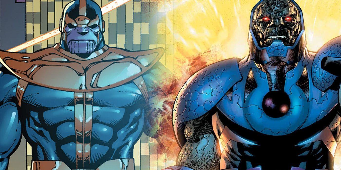 Darkseid Vs Thanos Fan Art Shows A Clash Of Titans Art Art Show Darkseid