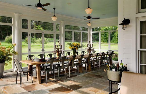 35 Beautiful Sunroom Design Ideas Long Dining Room Tables Sunroom Dining Sunroom Designs
