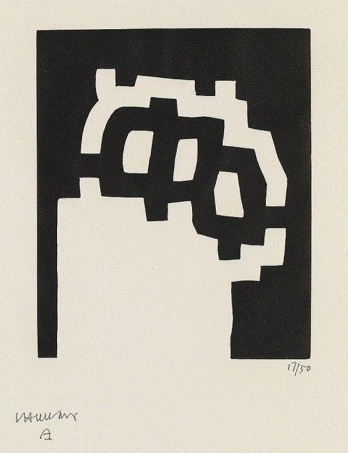 Cablestotheace Eduardo Chillida Carpenter Center Series Plate Ii Woodcut 1977 180x150 Mm 7x6 Inches 17 50 Printed By Fe Xilogravura Pinturas Abstrato