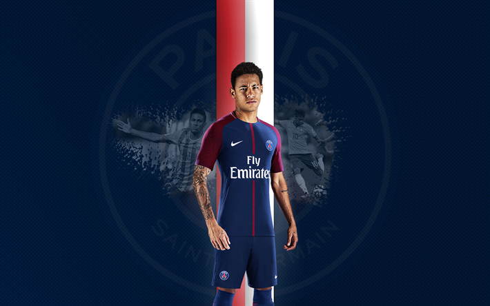 the best attitude f4caa 2d62f Download wallpapers Neymar, PSG, Paris Saint-Germain ...