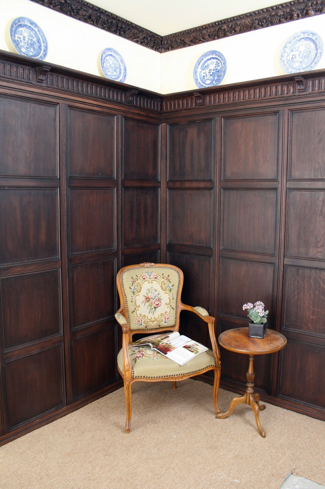 Old Oak Wall Panelling Antique Stained Painted Diy Quick Fit