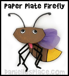 Firefly Lightening Bug Paper Plate Craft Kids Can Make from .daniellesplace.com  sc 1 st  Pinterest & Firefly Lightening Bug Paper Plate Craft Kids Can Make from www ...