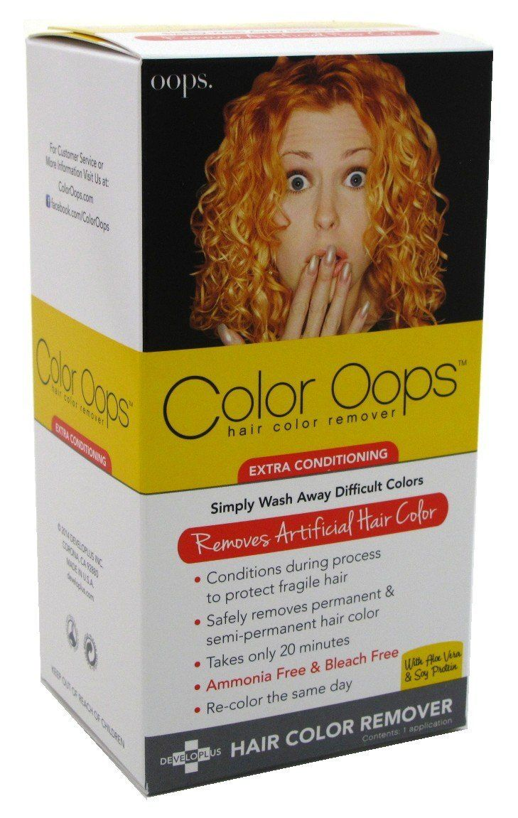 Color Oops Hair Color Remover Extra Conditioning 1 Each Pack Of 2 This Is An Amazon Affiliate Lin Colour Remover Oops Hair Color Remover Hair Color Remover