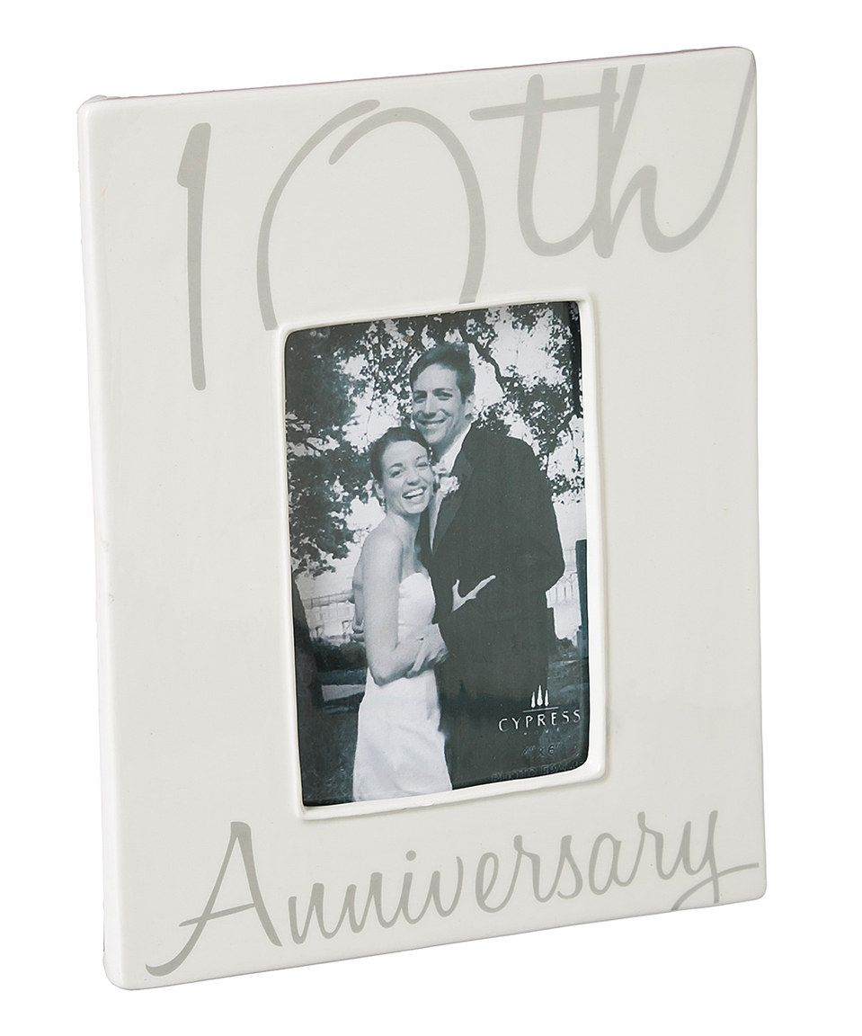 Look What I Found On Zulily 10th Anniversary Frame By Evergreen Zulilyfinds With Images Anniversary Frame Frame Anniversary Pictures