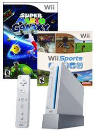 Nintendo Wii System Blast From The Past Bundle For Nintendo Wii Super Mario Galaxy Wii Wii Sports