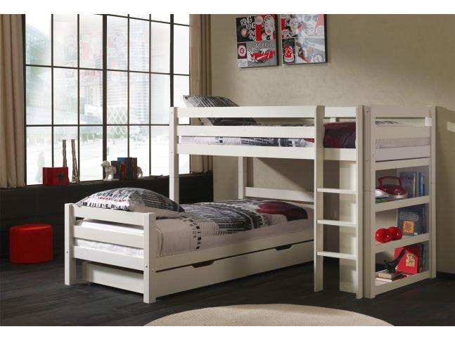 lits superpos s s parables tic tac en angle couchage 90x200 cm sonuit chambre enfants. Black Bedroom Furniture Sets. Home Design Ideas