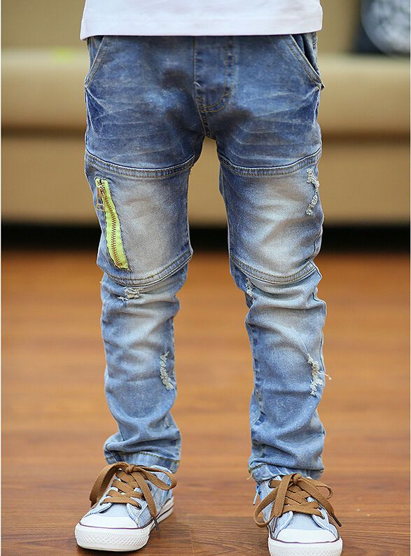 a338d3ef4 High Quality New children jeans boy's trousers Korean version kids denim  pants