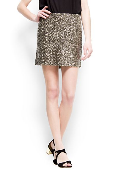 2ef3a8ac21 MANGO - SALE - Sequin mini skirt