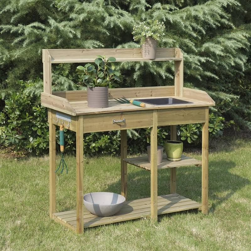 Suncast Potting Table Potting Bench Convenience Concepts Potting Bench With Sink