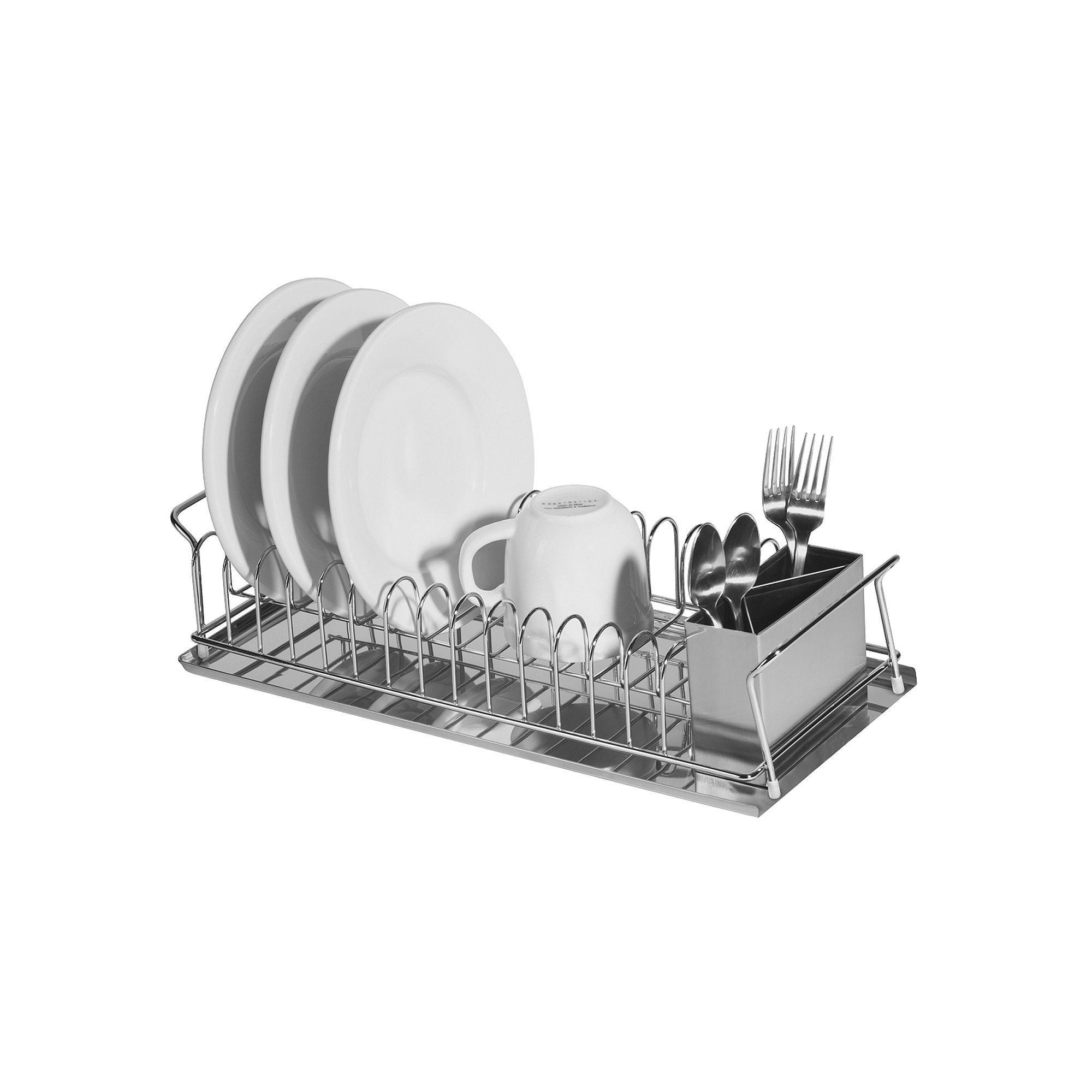 Oggi Stainless Steel Dish Drain Set Stainless Steel Utensils