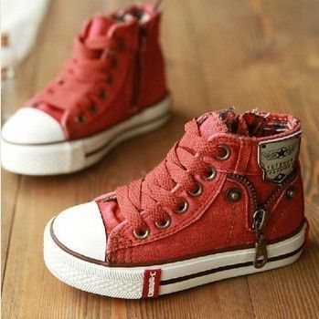 Kids Denim Canvas Shoes - In Blue or Red - DashBaby - $29.99