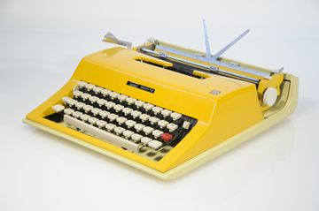 Reconditioned vintage typewriters in awesome colors... as they were when they were born. They just didn't know how awesome they were back then.