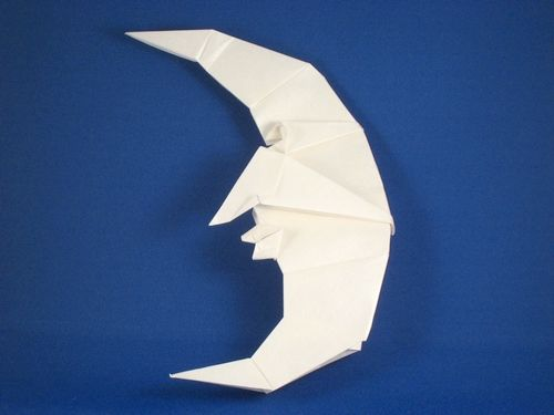 Origami Moon By Peter Engel Folded From A Square Of Nicolas Terrys