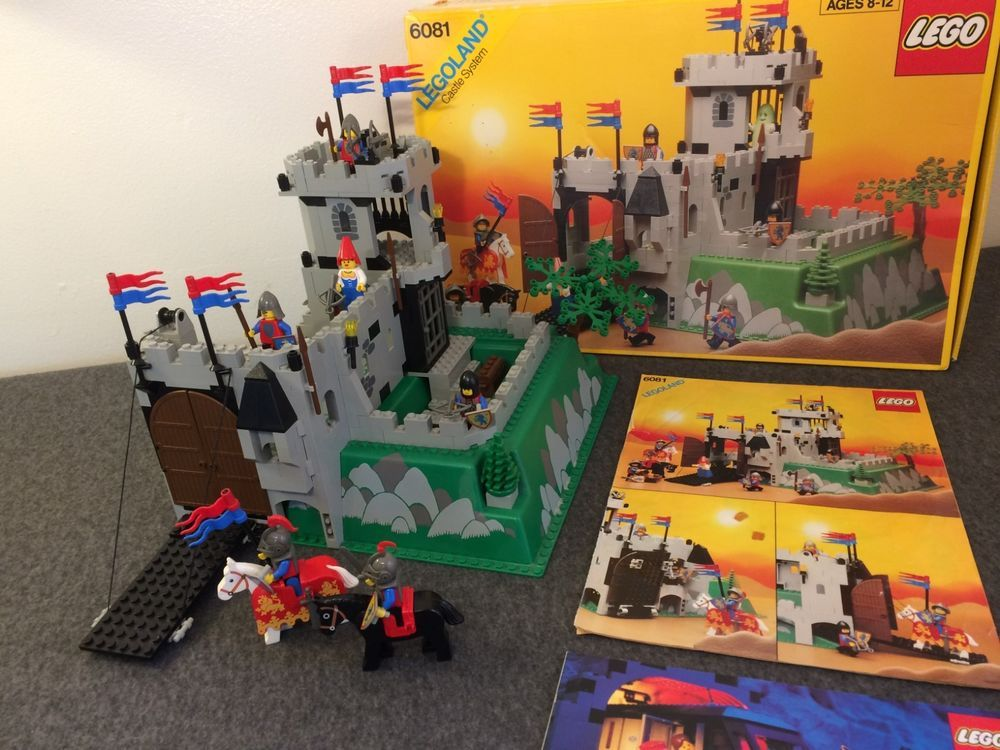 Lego 6081 Kings Mountain Fortress 1990 Vintage Classic Castle