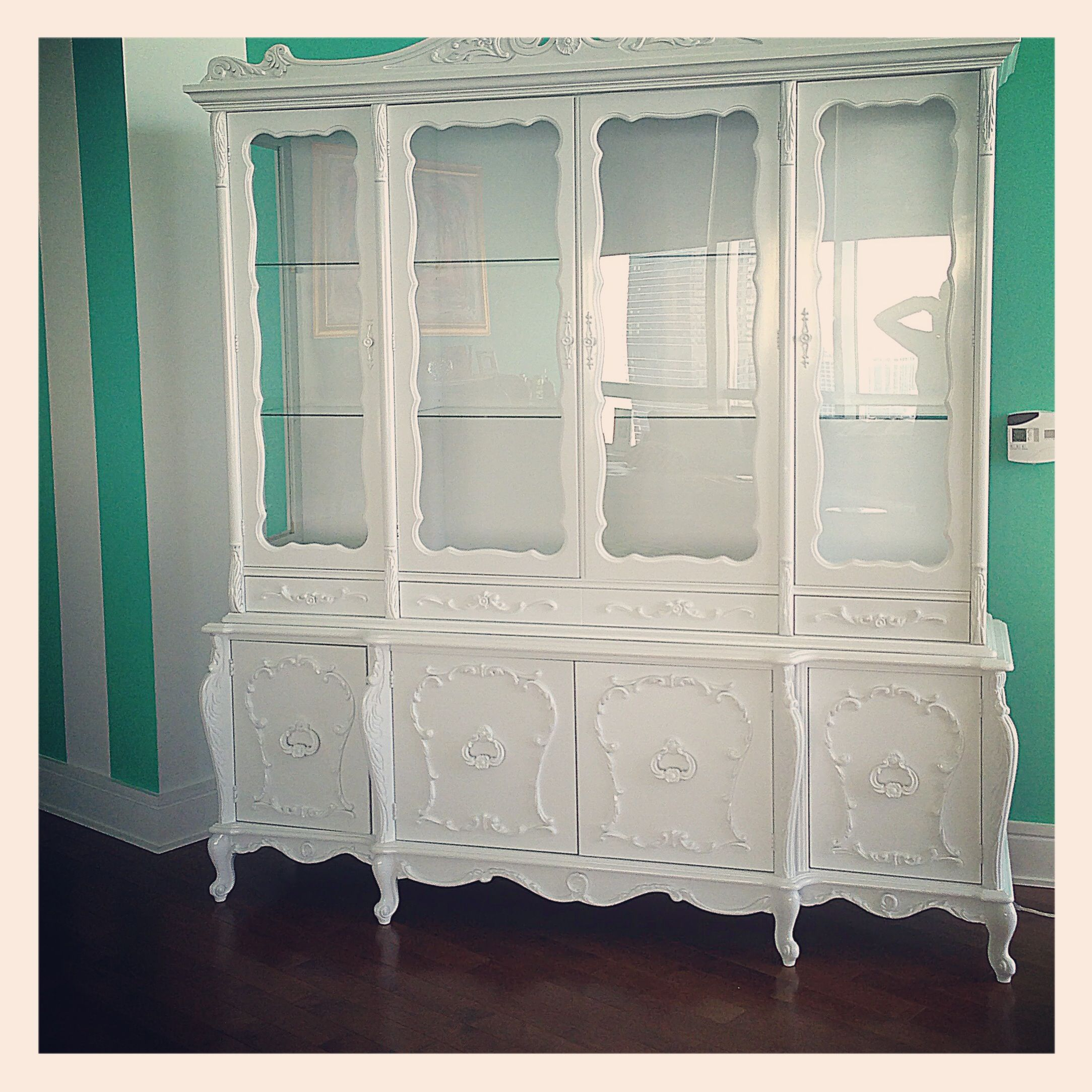 I Found This Amazing 1940s French Provincial Hutch On Craigslist And Had It Painted In A