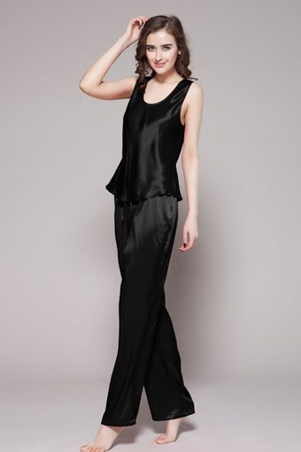 22 Momme Long Silk Camisole Set  3ee9bf75f