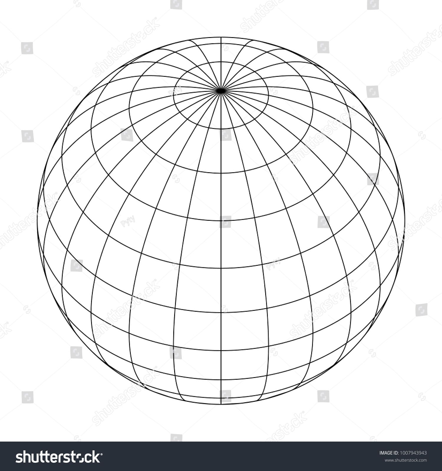 Earth Planet Globe Grid Of Meridians And Parallels Or Latitude And Longitude 3d Vector Illustration Sponso Planets Geometric Drawing Graphic Design Posters