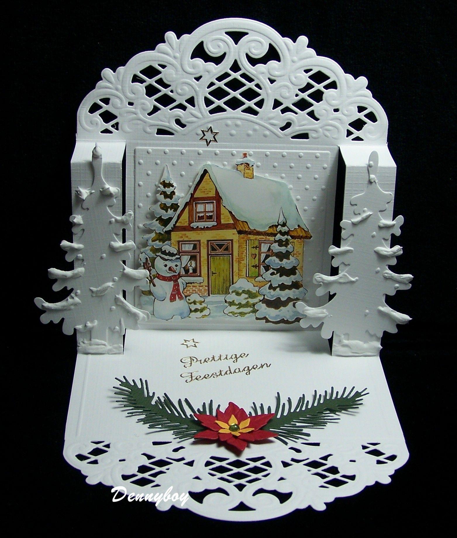 3 д открытка новогодняя