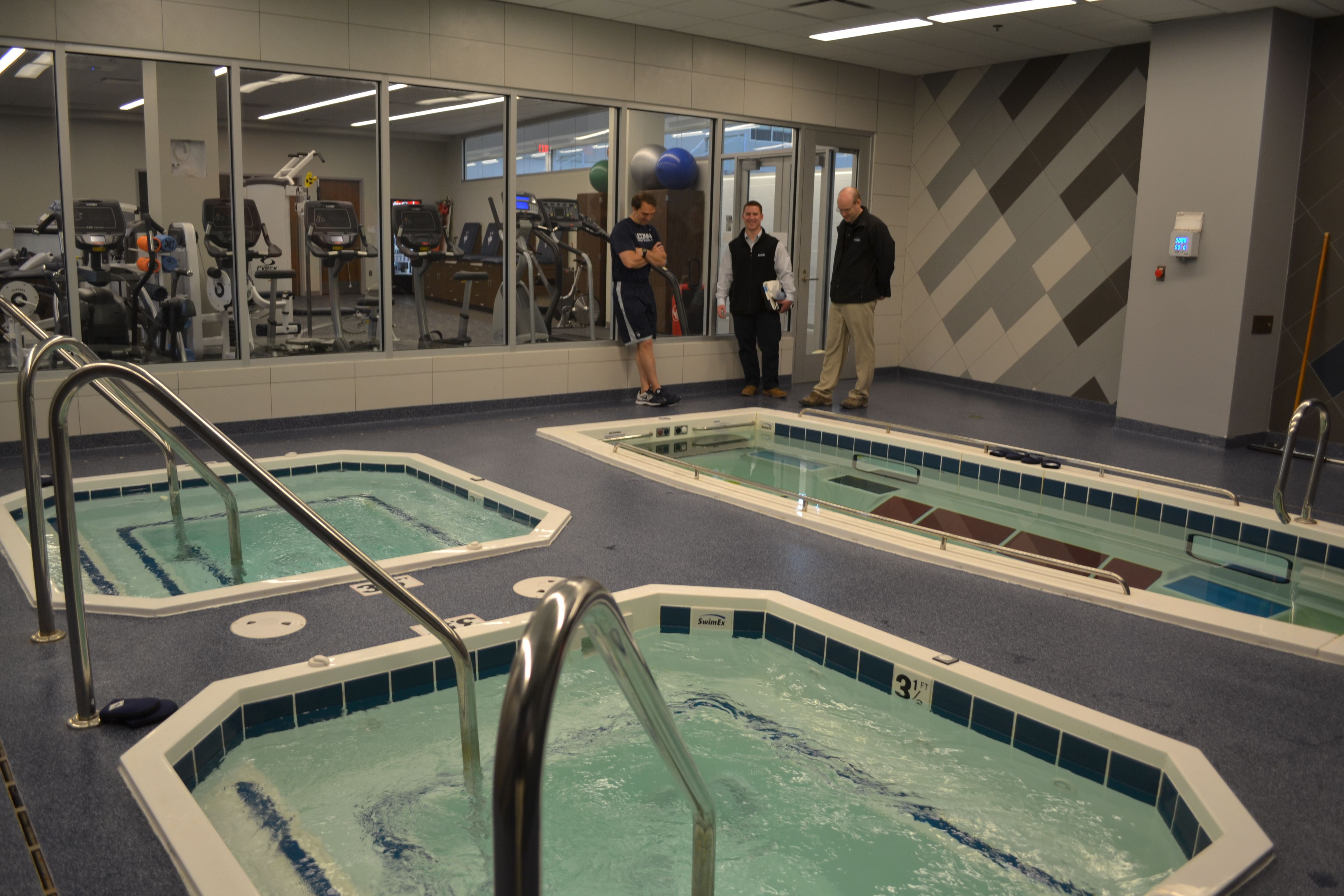 UConn\'s new hydrotherapy room in the Werth Family Basketball ...