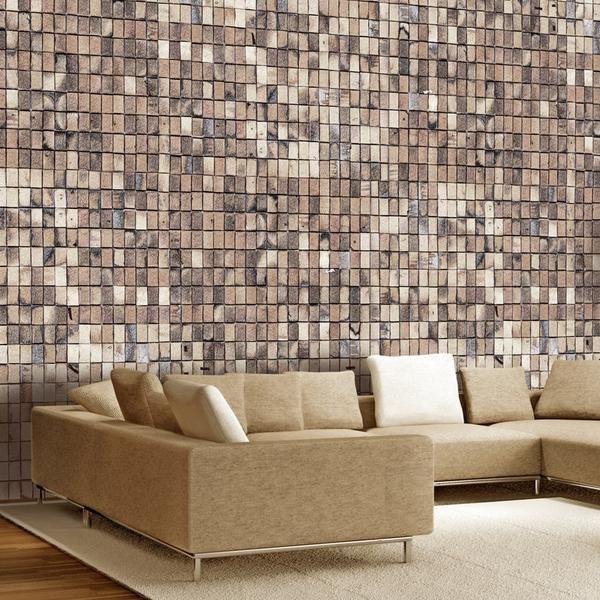 Carta da parati effetto mattoni Brick mosaic (con