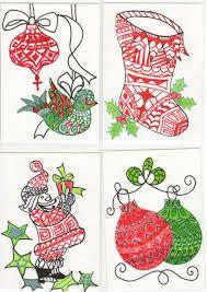 Easy Christmas Colored Zentangles Christmas Journal Christmas Drawing Christmas Designs