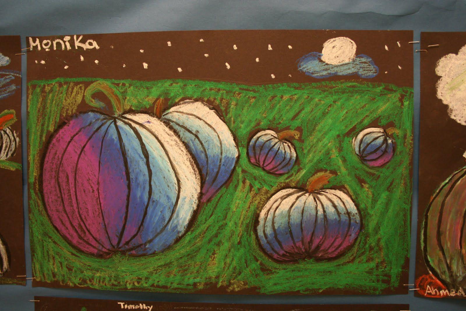 Art Project Girl: Very Cool Pumpkin Lesson | art lessons: autumn ...