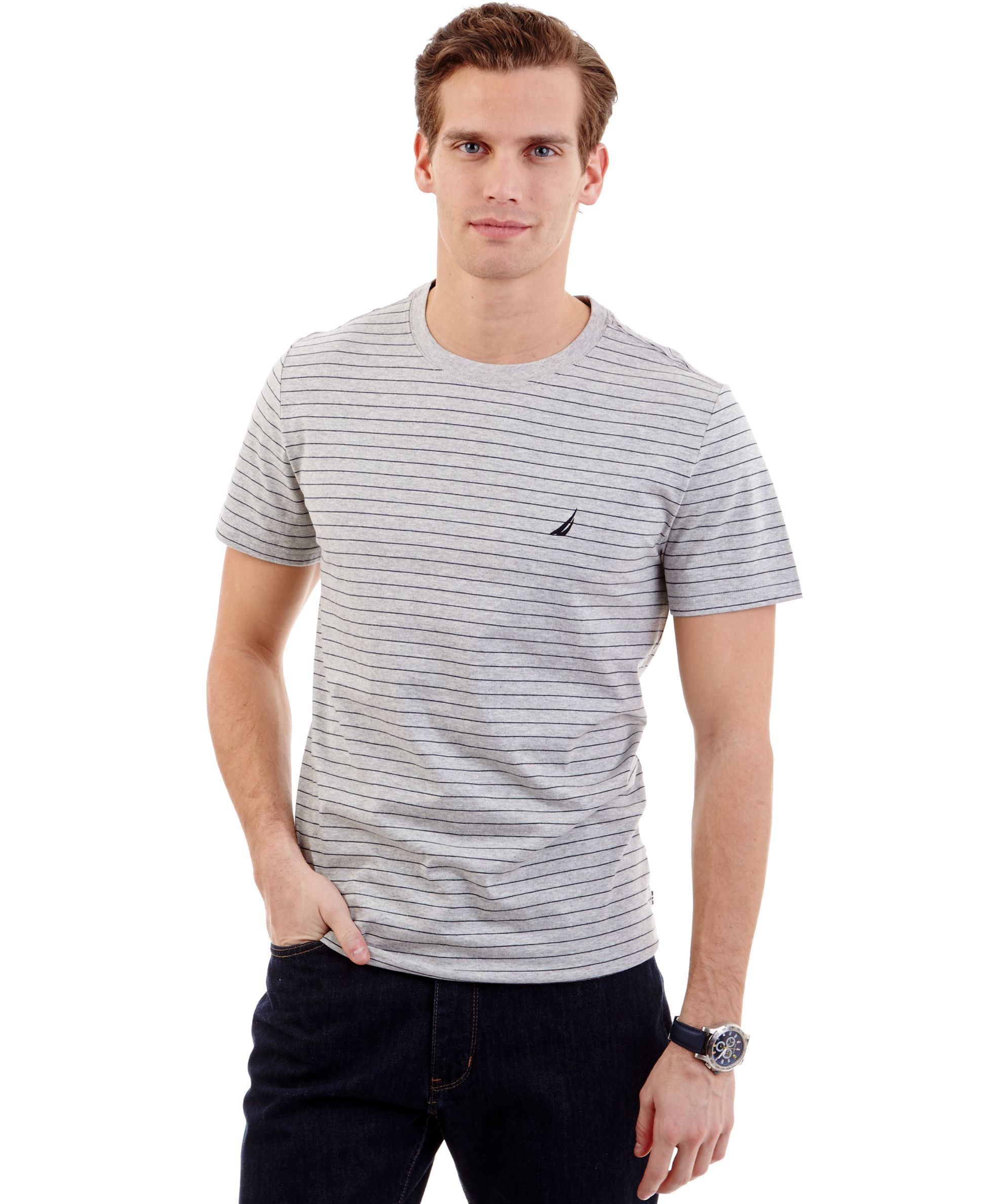 b5e85e667d Nautica Striped Crew-Neck T-Shirt | Products | Shirts, T shirt, Crew ...