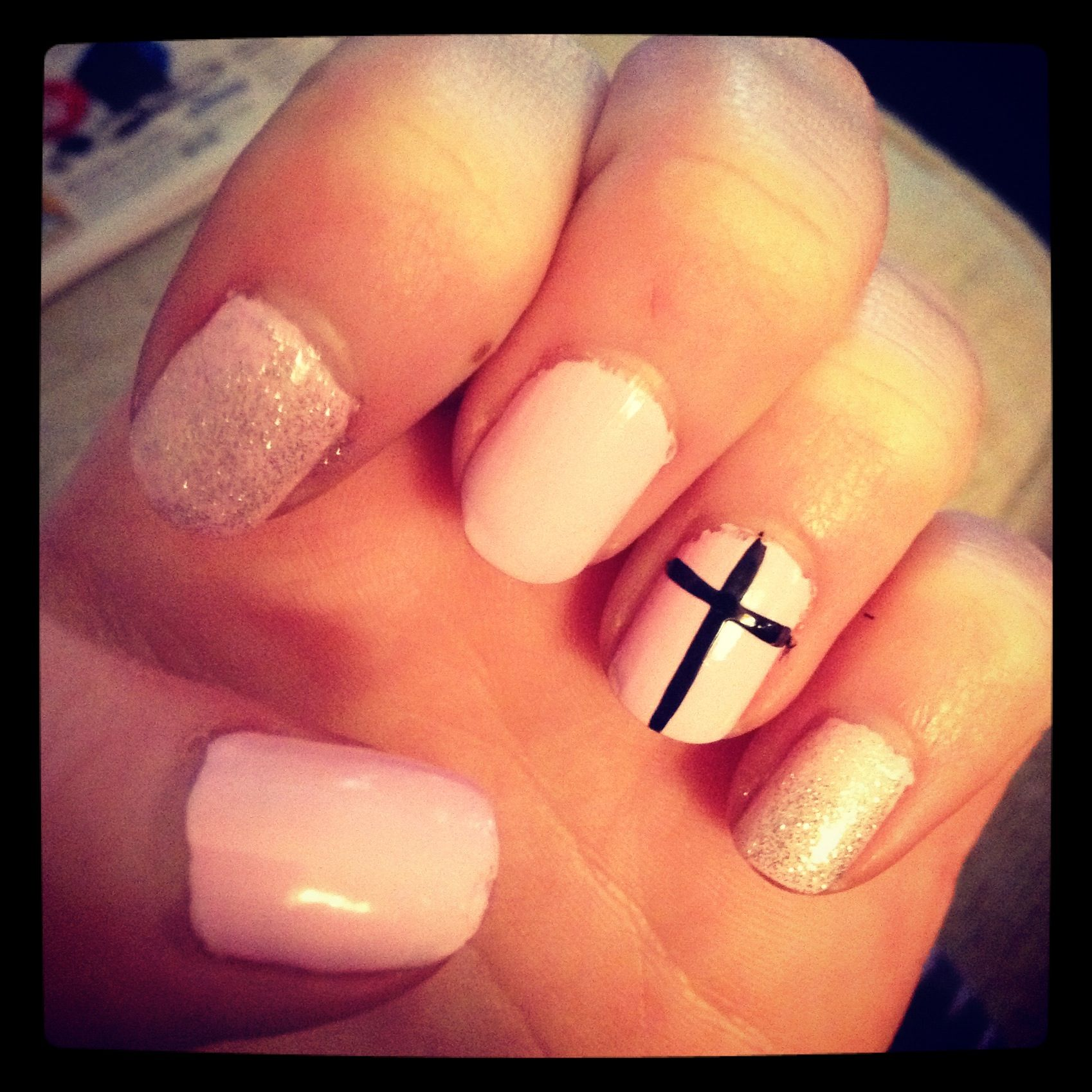 Cross nails!