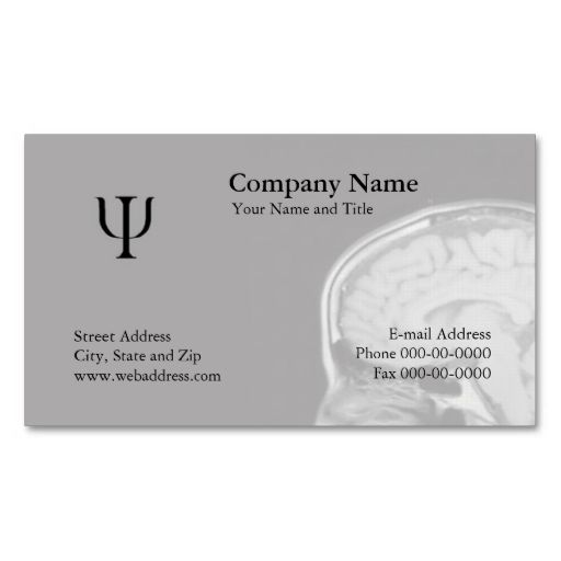 Psychologist Business Card Zazzle Com In 2021 Psychologist Business Card Psychology Business Card Customizable Business Cards