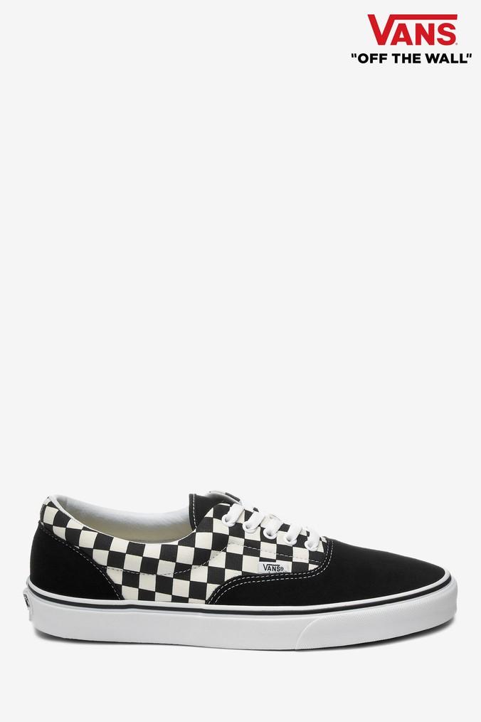 Mens Vans Black/White Check Era Trainer