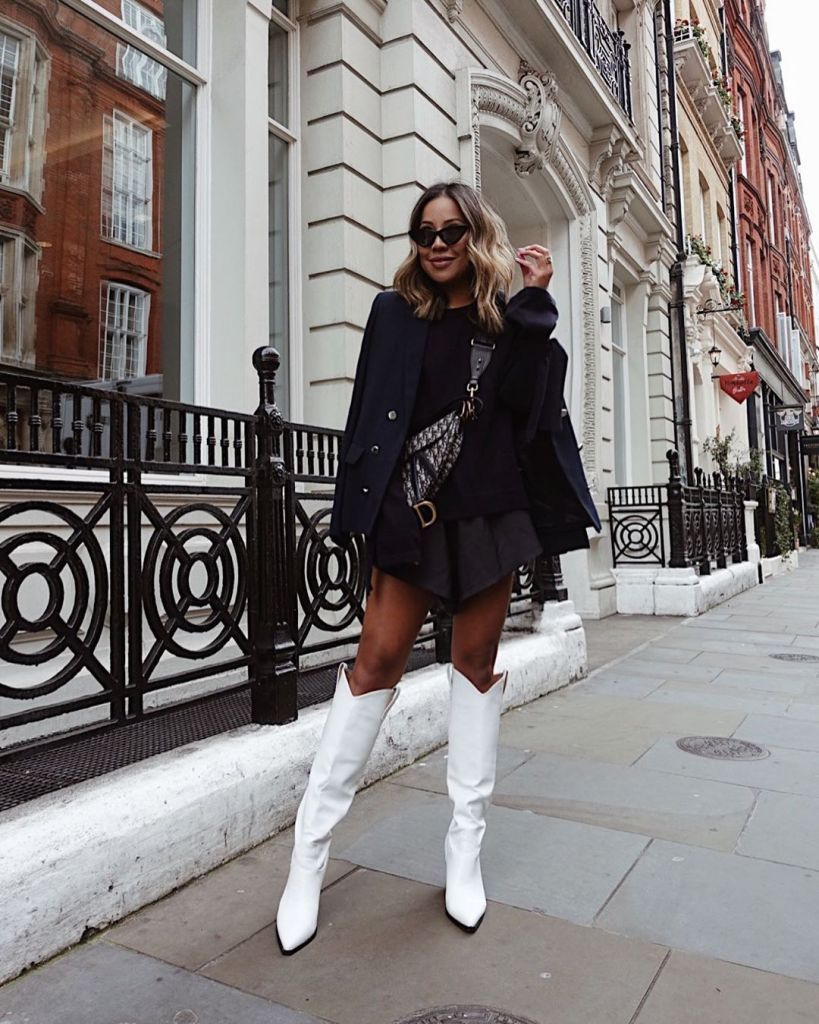 Outfits With White Boots Are Great Because You Can Wear Them For Fall Winter Summer And Spring Want To Know White Boots Outfit Fashion Fashion Inspo Outfits [ 1024 x 819 Pixel ]