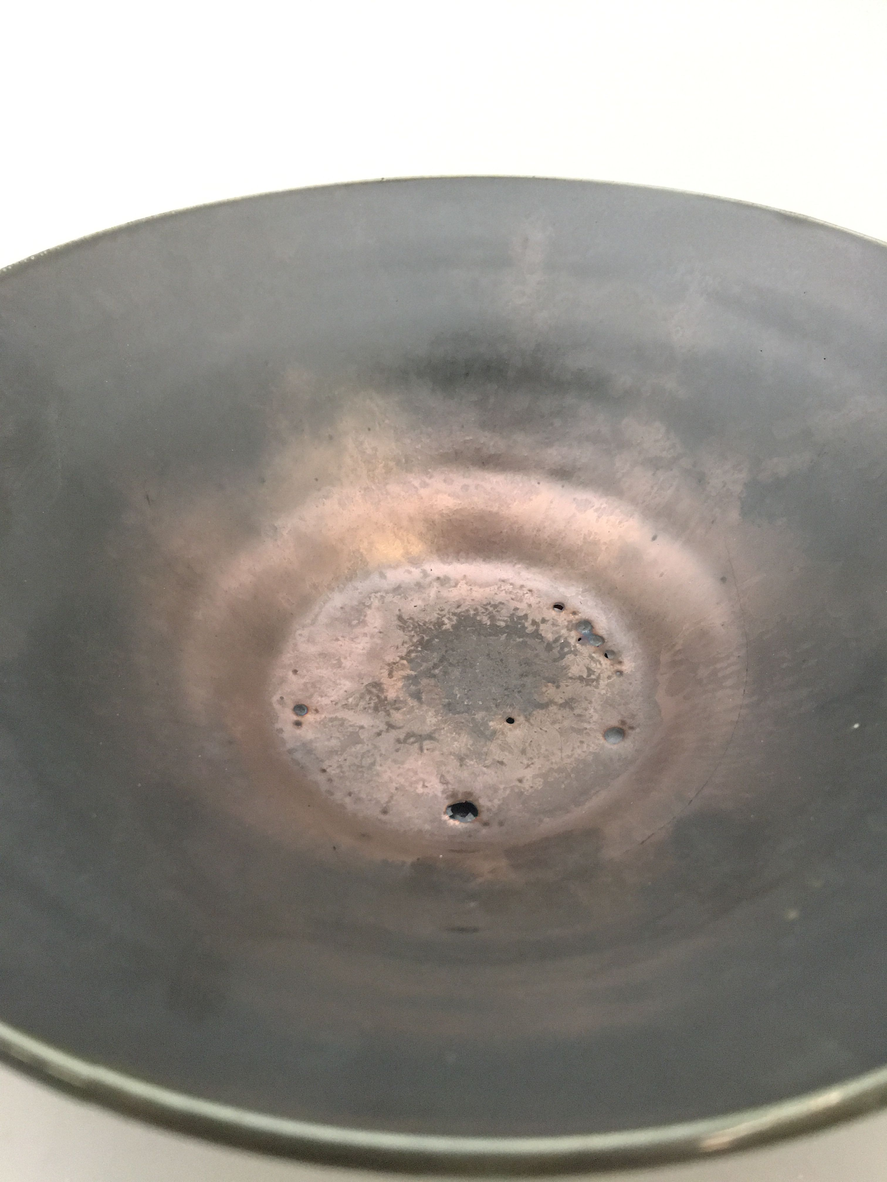 Ceramics crystalline glaze cone 10 metallic
