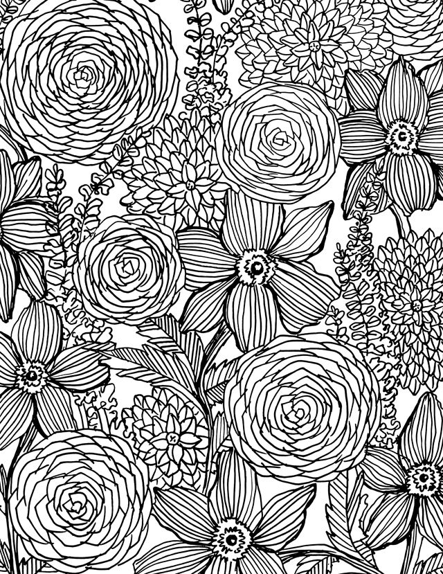 Flower Power Coloring Book On Sale And A Free Download For You