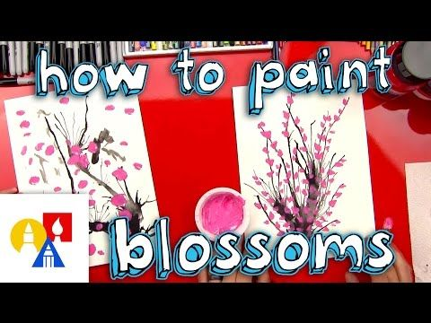 Fun Spring Painting Activity For Young Kids Learn How To Paint Blossoms With Us Easy For Kids But Still Fun F Art For Kids Hub Art For Kids Cool Art Projects