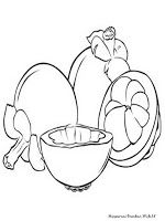 Buah Manggis Fruit Coloring Pages Coloring Pages Valentine