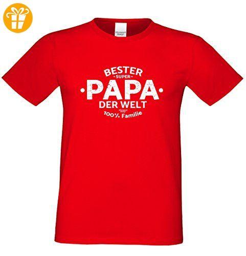 Geschenk Idee, Geburtstagsgeschenk Vater T-Shirt Funshirt Bester Papa der  Welt zum Vatertag,
