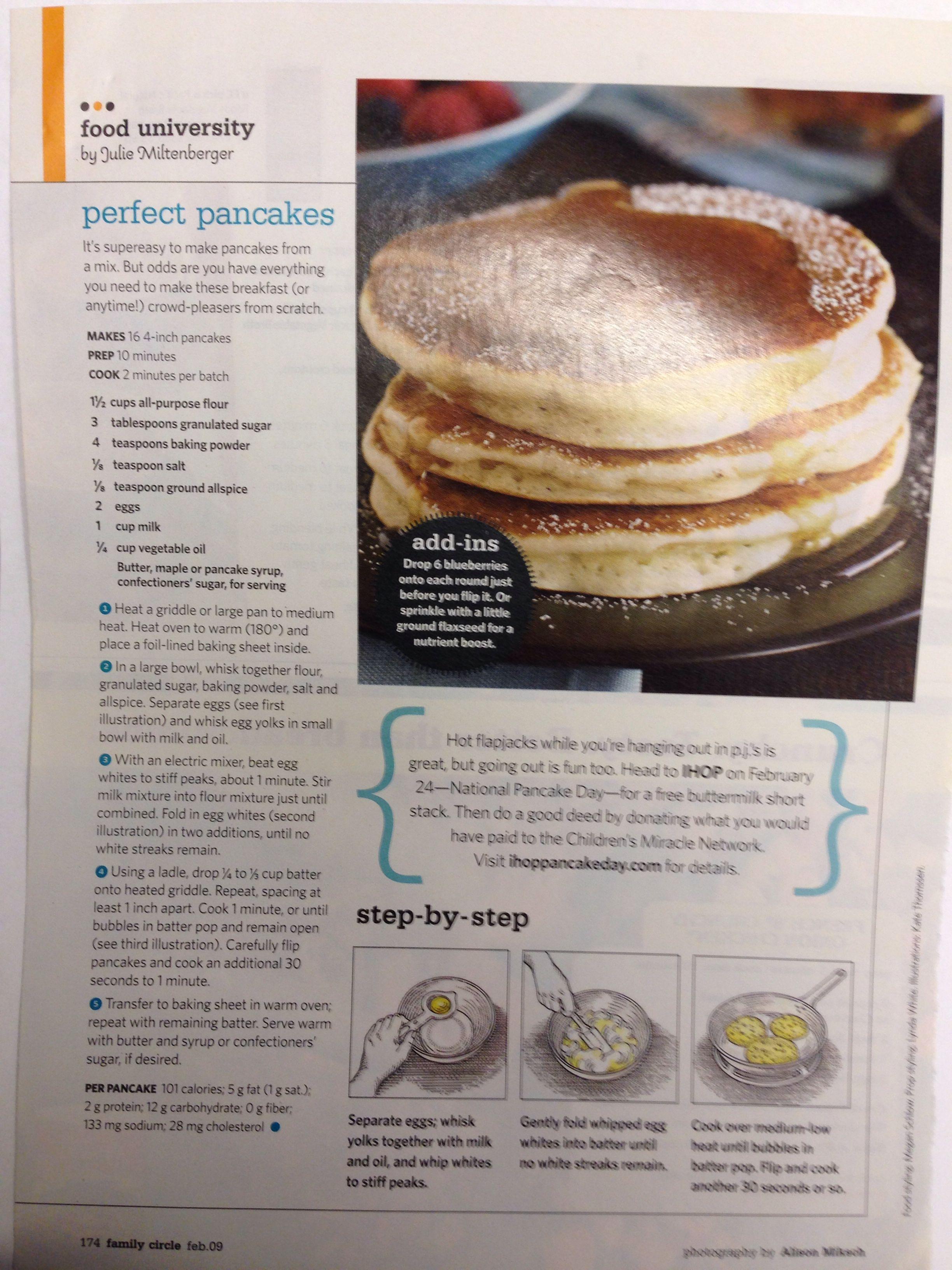 Perfect Pancakes Perfect Pancakes Food Breakfast