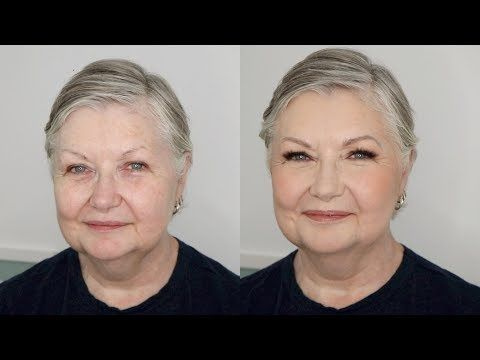 Mature makeup application
