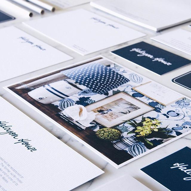 What's not to love about the @_halcyonhouse stationery?! Created by talented lass @vvmacphail and printed on Conqueror Laid by Cornerstone Press (QLD). #psstpaperisbackpassiton #halcyonhouse #halcyondays #design #graphicdesign #creative #logo