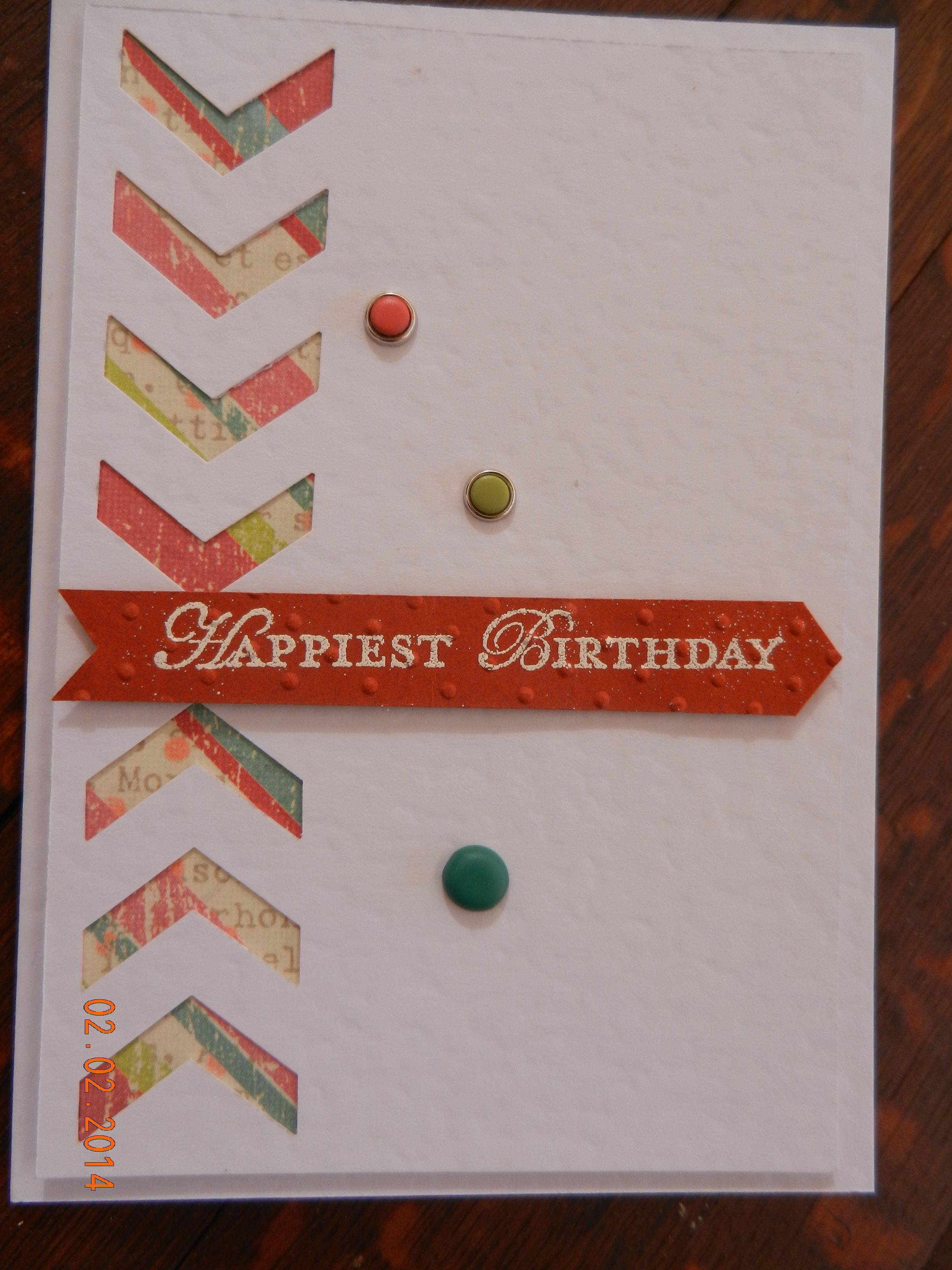 Using the New Stampin Up's Chevron border punch